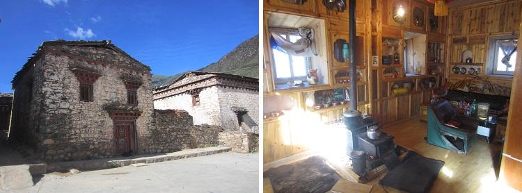 Häuser werden in den Bergen von der Regierung gesponsert damit die Leute überleben.