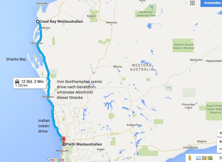 Westküste Coral Bay - Perth