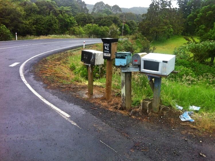 In der Ecke des Landes ist es weit verbreitet seine alte Mikrowelle als Briefkasten zu missbrauchen.