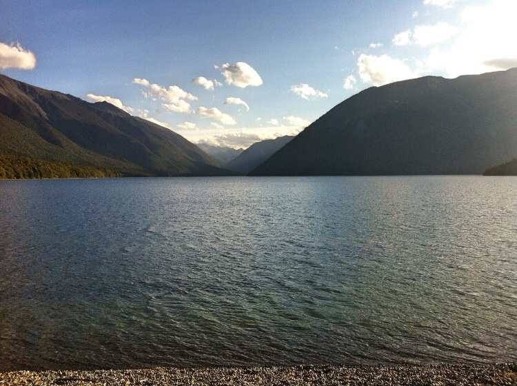 Kann man schon anbieten aber gegen die Alpen? Lake Rotoiti