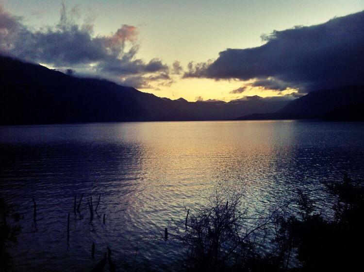 Sonnenuntergang Lake Monowai