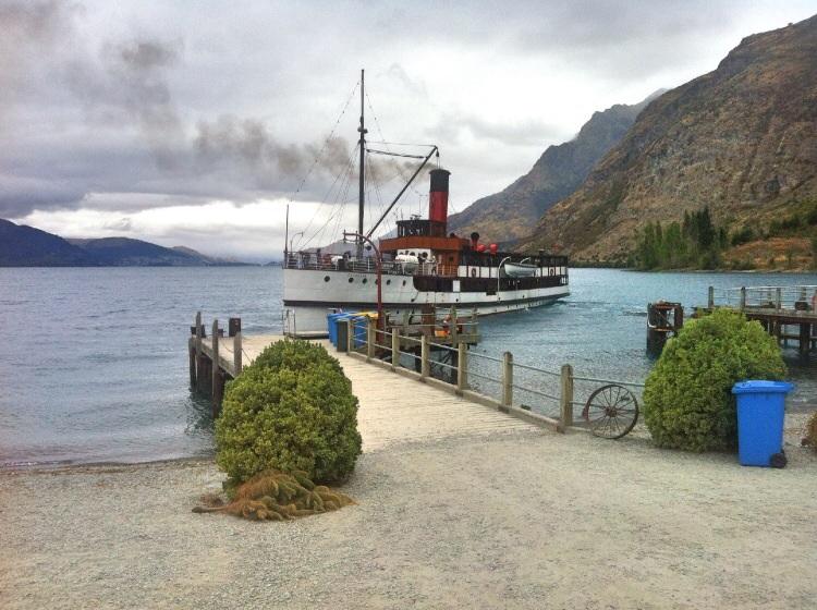 Das Schiff was uns über den See gebracht hat.
