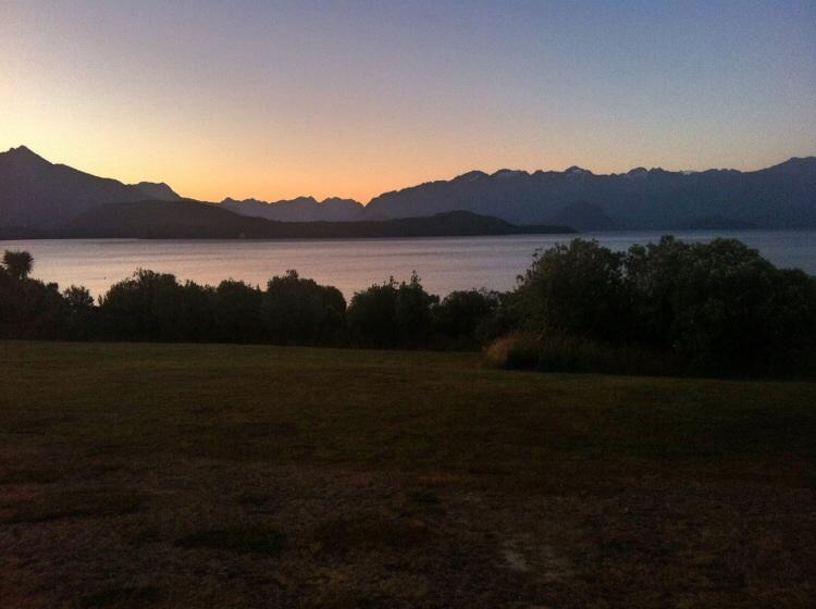 Sonnenuntergang am Lake Manapouri