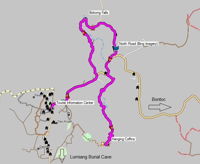 map sagada